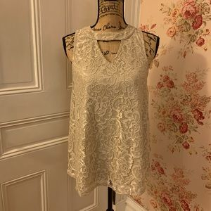 Maurice's Ivory Lace Tank Top